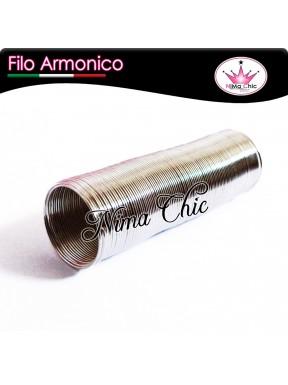 Bobina di filo armonico per anelli 50 spirali da 20mm Acciaio