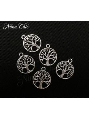 10pz charms ALBERO DELLA VITA 20X20mm argento tibetano