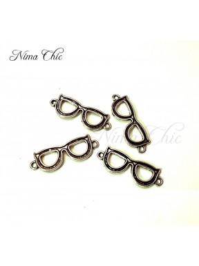 8pz charms OCCHIALI 40X15mm argento tibetano