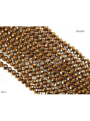1 Filo di Cipollotti in cristallo sfaccettato 6mm Bronze