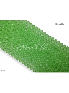 1 Filo di Cipollotti in cristallo sfaccettato 6mm Chrysolite