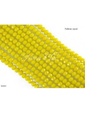 1 Filo di Cipollotti in cristallo sfaccettato 6mm Yellow opal