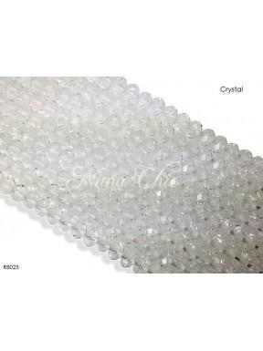 1 Filo di Cipollotti in cristallo sfaccettato 8mm Crystal
