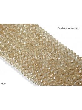 1 Filo di Cipollotti in cristallo sfaccettato 8mm Golden shadow ab