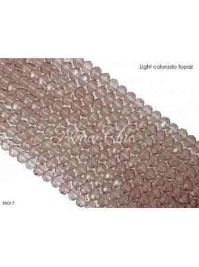1 Filo di Cipollotti in cristallo sfaccettato 8mm Light colorado topaz