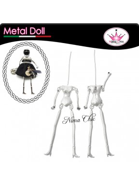 Base BAMBOLINA in metallo charms DOLL 75mm