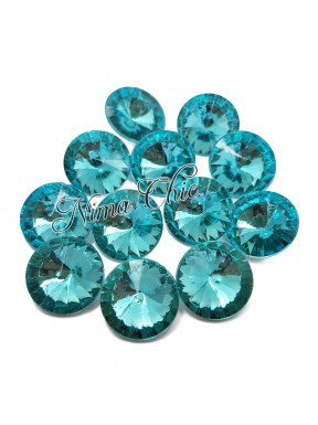 10pz Rivoli in resina 16mm aquamarine