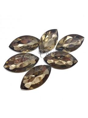 5pz Navette in resina 18x32mm dark diamond