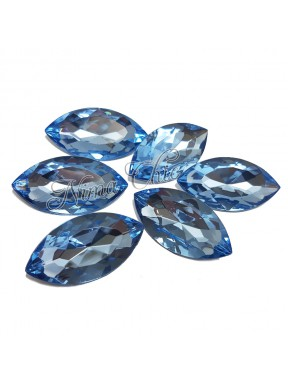 5pz Navette in resina 18x32mm light sapphire