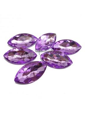 5pz Navette in resina 18x32mm violet