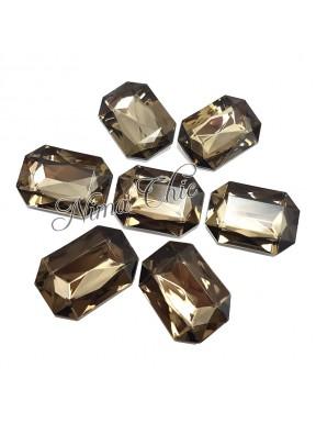 5pz Navette in resina 18x32mm black diamond