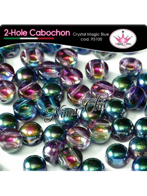 2 hole cabochon crystal full sliperit