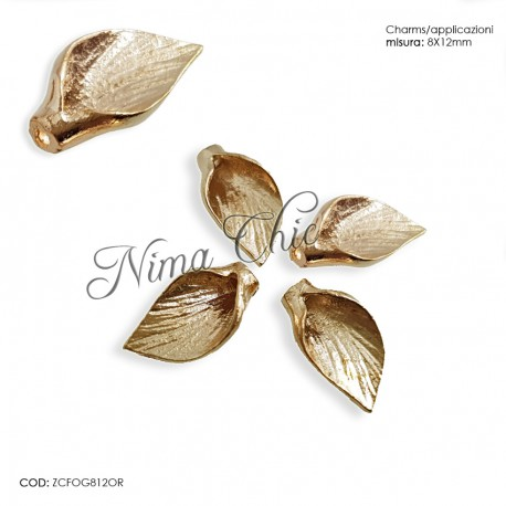 4pz CHARMS in zama CALLE 8X12mm col. oro