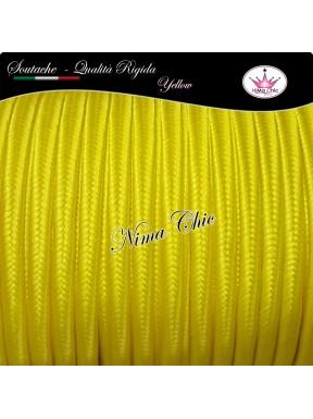 2 MT Cordoncino SOUTACHE cotone viscosa YELLOW 3mm
