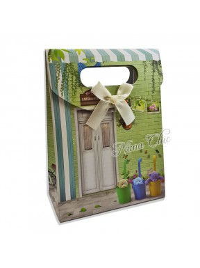 "Busta regalo in carta rigida 12x16cm con chiusura a strappo ""Country 2"""