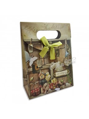 "Busta regalo in carta rigida 12x16cm con chiusura a strappo ""Country 3"""