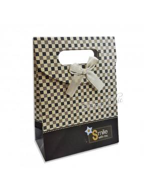 """Busta regalo in carta rigida 12x16cm con chiusura a strappo """"square"""""""