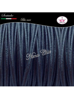Cordoncino SOUTACHE viscosa BLU NAVI 3mm