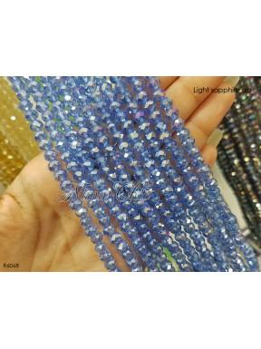 1 Filo di Cipollotti 6mm in cristallo sfaccettato Light sapphire