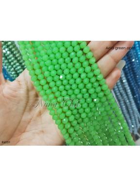 1 Filo di Cipollotti 6mm in cristallo sfaccettato Acid green