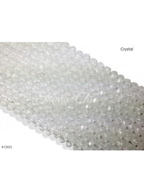 10 Pz di Cipollotti in cristallo 12mm sfaccettati  Crystal