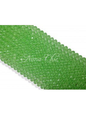 20pz  Cipollotti in cristallo sfaccettato 10mm Chrysolite