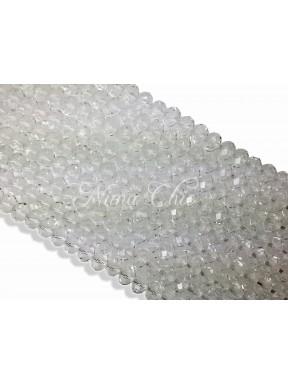 20pz  Cipollotti in cristallo sfaccettato 10mm crystal