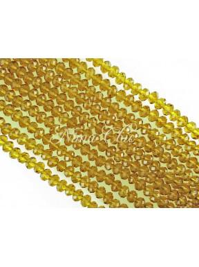 20pz  Cipollotti 10mm in cristallo sfaccettato Light Topaz