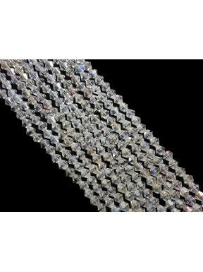 1 FILO di biconi 4mm in cristallo cinese sfaccettato Crystal ab