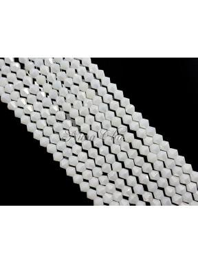 1 FILO di biconi 4mm in cristallo cinese sfaccettato White ab