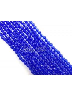 1 FILO di biconi 4mm in cristallo cinese sfaccettato Cobalt blue