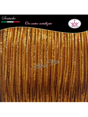 SOUTACHE viscosa piattina 3mm ORO ANTICO METALLIZZATO