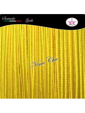 3 MT Cordoncino SOUTACHE viscosa GIALLO 3mm