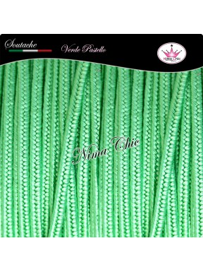 3 MT Cordoncino SOUTACHE viscosa VERDE PASTELLO 3mm