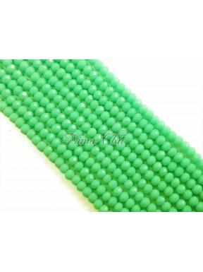 1 FILO di Cipollotti da 2mm in vetro sfaccettato Lime green opal