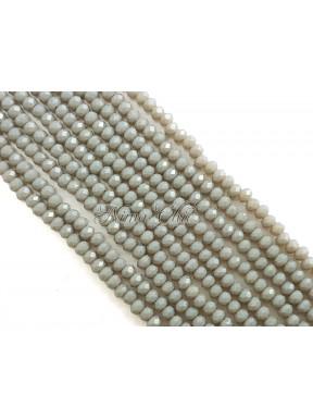 1 FILO di Cipollotti da 2mm in vetro sfaccettato Grey pearl opal ab
