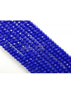 1 FILO di Cipollotti da 2mm in vetro sfaccettato Cobalt blue opal