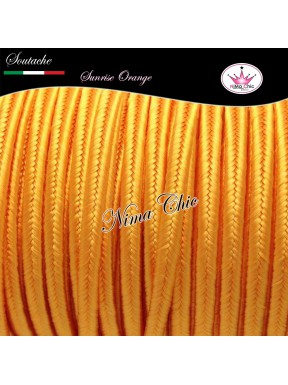 3 MT Cordoncino SOUTACHE viscosa SUNRISE ORANGE 3mm