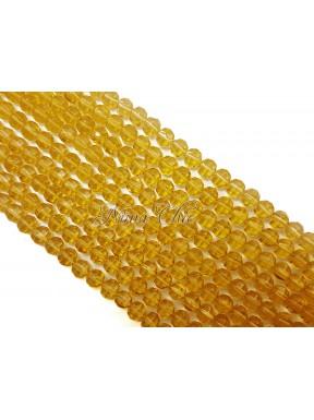 1 FILO di perle TONDE 6mm in vetro sfaccettato Topaz