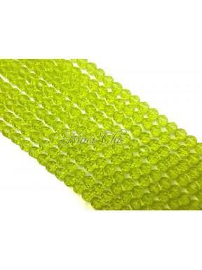 1 FILO di perle TONDE 6mm in vetro sfaccettato Cedro