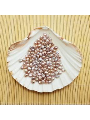 10 Perle di fiume irregolari 6/7 mm Orchid AB