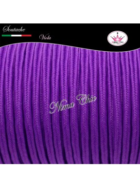 3 MT Cordoncino SOUTACHE viscosa VIOLA 3mm
