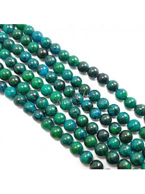 1 FILO di perle in Chrysocolla tinta 8mm