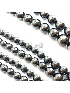 10 Perle EMATITE 12mm pietre dure tonde