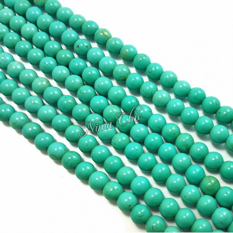 1 Filo di perle pietra TURCHESE Persiano tondo 8mm