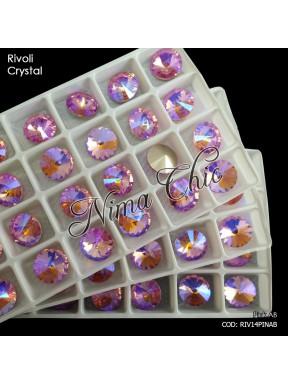 2pz RIVOLI in cristallo pink ab