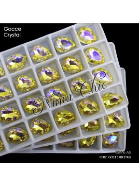 2pz GOCCE in cristallo citrine ab MISURE A SCELTA