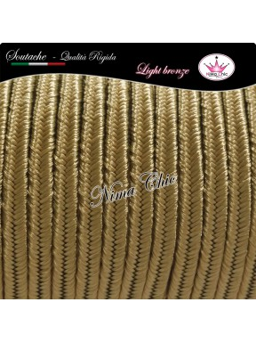 SOUTACHE cotone e viscosa piattina dura 3mm LIGHT BRONZE