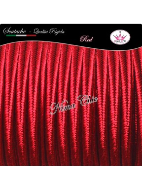 2 MT Cordoncino SOUTACHE cotone viscosa RED 3mm