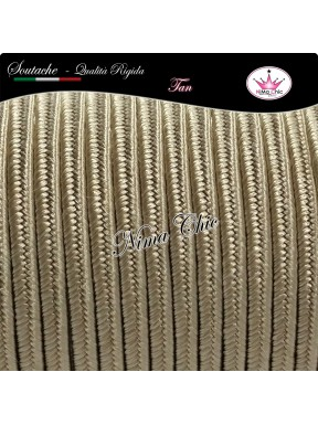 2 MT Cordoncino SOUTACHE cotone viscosa TAN 3mm